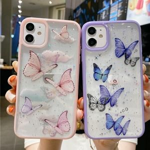 iPhone 11, 11 Pro Max Case Butterfly glitter